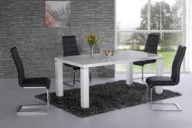 danata white high gloss designer dining table