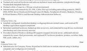 computer support technician resume desktop support technician resume best discreetliasons