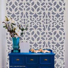 large wall stencils for paintingLarge Exotic Trellis Wall Stencils for DIY Painting  Royal Design