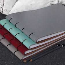 large leather sketchbook