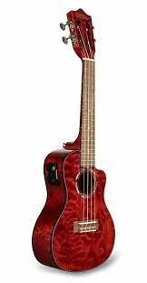 <b>Укулеле Lanikai</b> Model <b>QM</b>-<b>RDCEC</b> Quilted Maple Red Cutaway ...