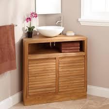 Handicap Bathroom Vanities Bathroom Awesome Wooden Corner Bathroom Vanity With Shelving