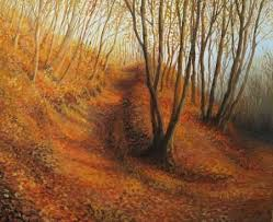 Silent Autumn <b>Afternoon</b> In A Colorful <b>Forest</b>, Painted On <b>Canvas</b> ...