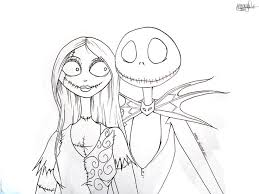 Nightmare Before Christmas Jack And Sally Coloring Pages At