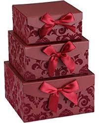 Decorative Gift Boxes With Lids Amazon Christmas Nested Gift Box Tower Set of 60 Rectangular 28