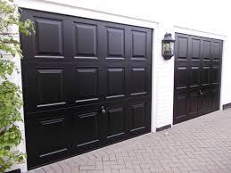 two black garador georgian doors