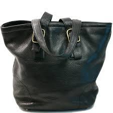 Coach Black Leather Medium Hampton Tote Shoulder Bag Purse 9600