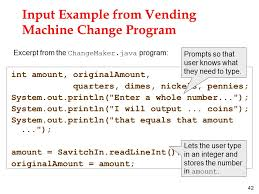 Vending Machine Programming Code New Primitive Types And Simple IO Ppt Video Online Download