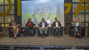 panelists at the boston business journal s business of sports power breakfast held at td garden were