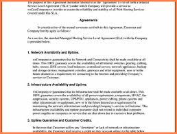 Internal Service Level Agreement Template 3 Sample Service Level ...