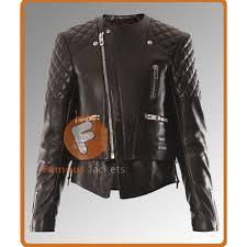 kristen stewart quilted black motorcycle jacket womens celebrity leather jackets uk