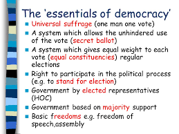 growth of democracy essays what progress did britain make towards  the essentials of democracy universal suffrage one man one vote a system