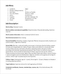 sample nanny job description 8 examples in word pdf