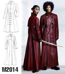 trenched lined coats with collar variations cosplay by mccall s brand collection cosplay by mccall s sewing patterns