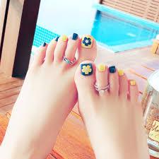 Nail Art Sticker False Toe Nail Decal Flower Tips Acrylic Fake Toe Nails Art Holiday Gift Acrylic Nail Kits Acrylic Nails Supplies From Wintur