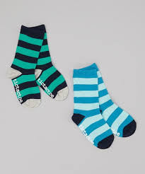 love this product navy blue rugby stripe socks set