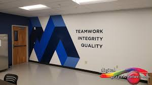Office Wall Design Inspiration Custom Wall Graphics Add Inspiration To The Workday Office