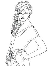 taylor swift coloring pages easy and selena gomez