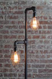 lighting industrial. Pipe Floor Lamp - Industrial Edison Bulb Standing Cage Lighting O