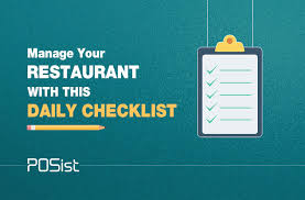 Server Side Work Chart Restaurant Management Checklist For All Your Daily