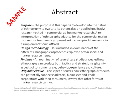 Sample Paper With Abstract