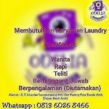 7,116 likes · 70 talking about this. Lowongan Kerja Karyawan Laundry Odelia Banda Aceh Karir Aceh