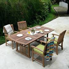 Patio Furniture Dining Sets 5 Teak Extendable Table Dining Set With