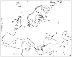 Outline Map Of Europe Ai Estarte Me
