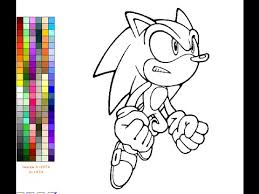Small Picture Sonic The Hedgehog Coloring Pages For Kids Sonic The Hedgehog