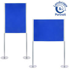 Display Boards Free Standing Single A100 Elevated Poster Boards RAL Display 10