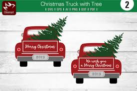 Pickup trucks were developed as a durable and reliable replacement for hauling goods by horse and cart, and who can forget the excitement of christmas morning and discovering a speeding locomotive pulling its cars beneath the family christmas tree or. Christmas Truck With Tree Graphic By Gleenart Graphic Design Creative Fabrica