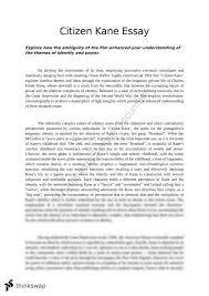 module b critical study essay citizen kane year hsc  module b critical study essay citizen kane