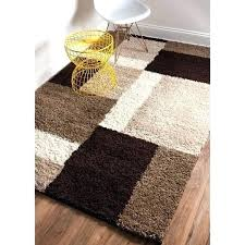 color block area rug plush beige brown and ivory geometric modern contemporary texture thresholdtm