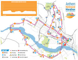 anthem richmond marathon  course maps