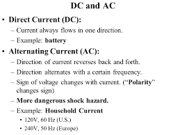 alternating current examples. dc and ac direct current (dc): alternating (ac): examples