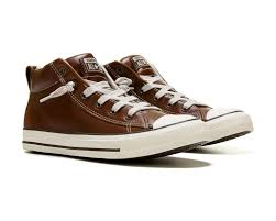 converse all star leather. converse chuck taylor all star street mid top leather sneaker pinecone brown o