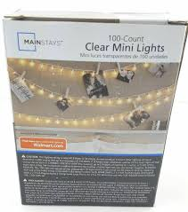 100 Count Clear Mini Lights Mainstays String Lights 100 Clear Mini Wedding Tree Decoration Outdoor Patio New
