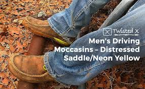 Twisted X Mens Boots Size Chart Twisted X Mens Steel Toe Leather Driving Moc Distressed Saddle Neon Yellow