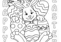 Easy Easter Coloring Pages Printable With Cute Easter Coloring Pages