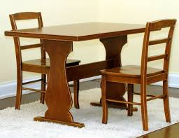 Furniture Close Up Couple Dining Table With Interesting Trestle