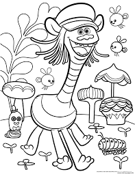 Small Picture Trolls Movie Color Troll Coloring Pages Printable