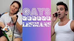 Gay lesbian man vs