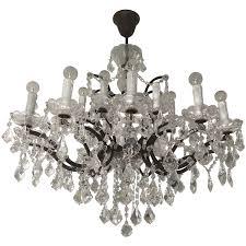 viyet designer furniture lighting restoration hardware 19th century rococo iron and crystal chandelier