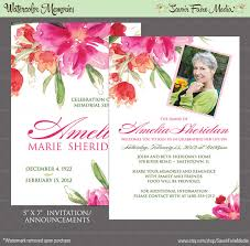 Memorial Announcement Cards Funeral Memorial Announcement Or Invitation And Free Thank You Card