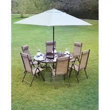 knightsbridge round 6 aluminium garden furniture