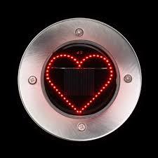 Red Solar Pathway Lights Amazon Com Iuhan Solar Powered Ground Lights Lamp Heart