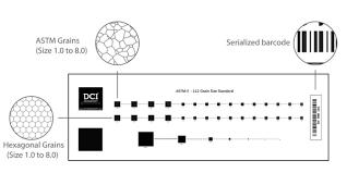 Dci 00 102 Astm E112 Plate 1 Calibration Slide