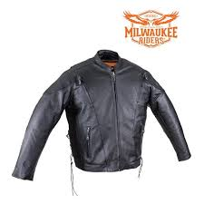 Milwaukee Vest Size Chart Milwaukee Riders Mens Racer Leather Motorcycle Jacket Dual Ccw