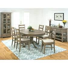 rug under dining table rug under kitchen table dining room decorating ideas using patterned light blue rug under dining table
