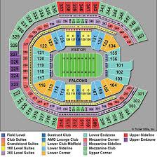atlanta falcons mercedes benz stadium seating chart view